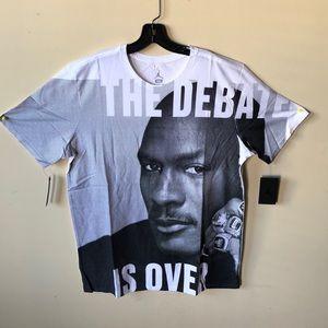 """Air Jordan Tee """"The Debate is Over"""" NWT"""